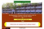 """DEPARTMENT OF CHEMISTRY -WEBINAR ON """"PROCESS OF MANUFACTURING PAINT"""""""